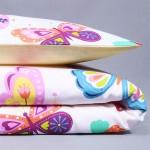 Gultas velas Krāsaini tauriņi|Satininės paklodės|TavsSapnis