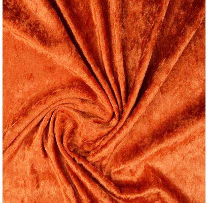 Plāns samts ar burzījuma efektu, Dark Orange, 0.30x1.40m|Audumi|TavsSapnis