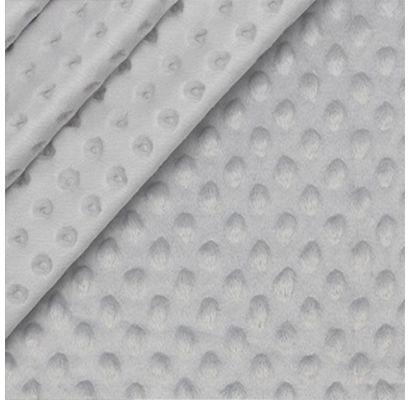 Minky audums gaiši pelēks, 0.60x1.60m|Audumi|TavsSapnis
