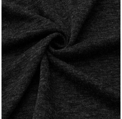 Trikotāžas audums Tumši pelēkā melanžā|Šilti, megzti audiniai|TavsSapnis