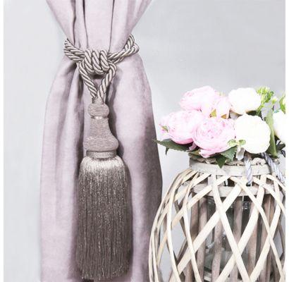 gaišāk pelēks ar nelielu rozā nokrāsu|Aizkaru turētāji|TavsSapnis