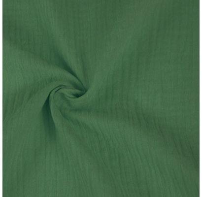 Double gauze muslīns  tumši novecojis zaļš, 0.65x1.35m Audumi TavsSapnis