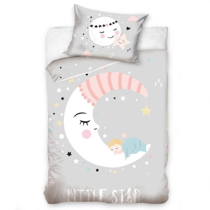 Premium gultas veļa Sleepy moon|Satīna palagi|TavsSapnis